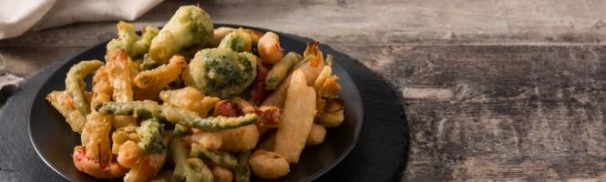 Verduras enchiladas en tempura