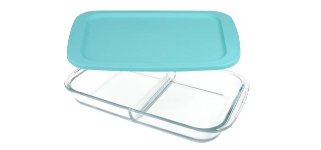 Forni - Asadera rectangular con separador y tapa